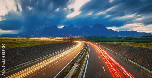 Sunrise panorama view of High Tatras mountains in Slovakia