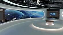 Virtual TV Studio News Set 28-...