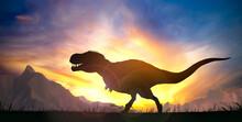 Silhouette Of A Tyrannosaurus ...