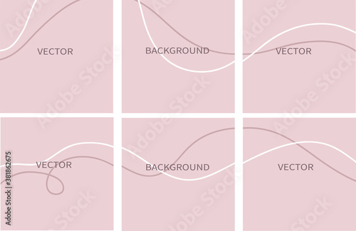 Fotografia Set of vector abstract background with copy space for text