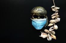 Golden Skull In Medical Mask, ...