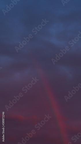 Fotografía Arc-en-ciel après le passage d'un orage