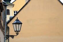 Vintage Street Lamp On A Histo...