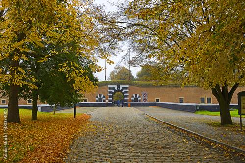 Fotomural Entrance to the Terezin memorial, former concentration camp