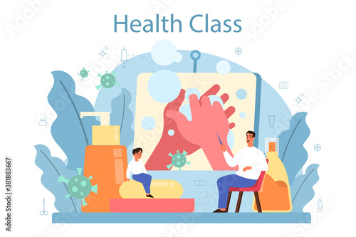 Healthy lifestyle class. Idea of medicine and healthcare education.