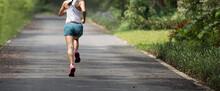 Fitness Woman Runner Running A...