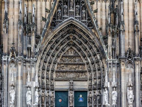7166  Köln - Dom Südportal Canvas