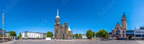 Obraz Panorama, Marktplatz, Moenchengladbach Rheydt, Deutschland  - fototapety do salonu