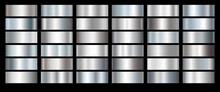 Silver Foil Texture Set Backgr...