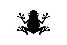 Frog Vector Illustration Black...