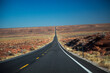 Looking north at Utah highway 163, north of Monumant Valley, Utah
