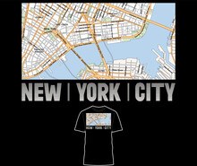 New York State Map Vector For T-shirt, Poster, Banner, Flyer, Etc.