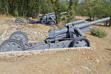 Old Cannon Of The Period Of WW...