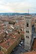 Torre del campanario de la iglesia Santa María del Fiore, catedral de Florencia