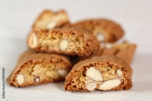 Italian almond biscuits cantuccini Fotobehang