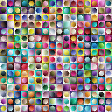 256 Pieces Colorful Starburst,...