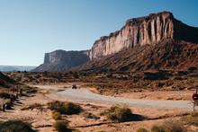 Landscape Of Road In Red Sand Desert