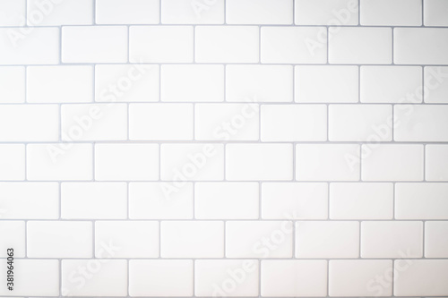 Fotografie, Obraz white subway tile kitchen wall for background image