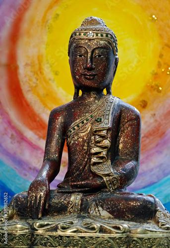 Buddha berührt die Erde Canvas