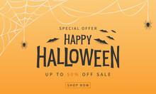 Halloween Sale Banner. Vector ...
