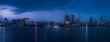 高層ビルのある夜景(パノラマ)