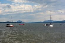 Boats On Lake Yacht And Sailboats Water Vacation