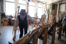 Male Artist Preparing Easels F...