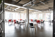 Coworking Space With Space Arranged For Social Distancing