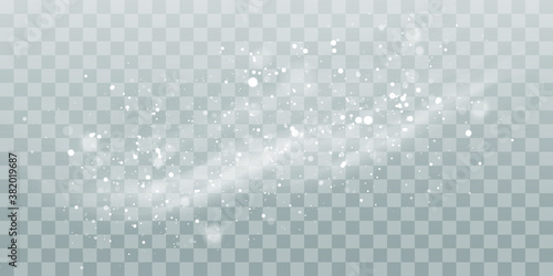 Photo Vector heavy snowfall, snowflakes in different shapes and forms