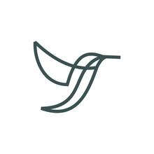 Logo Design Bird Line Vector