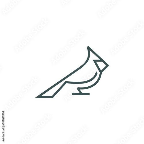 Fototapeta logo design bird line vector
