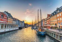 Copenhagen Denmark, Sunset Cit...