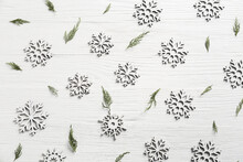Beautiful Christmas Snowflakes On Light Background