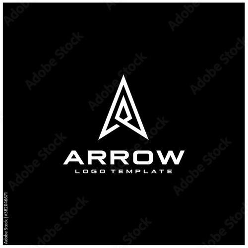 Fotografie, Tablou Initial Letter A Arrow with Arrowhead for Archer Archery Outdoor Apparel Gear Hu