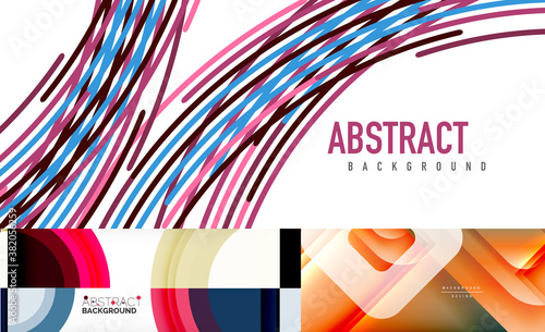 Set of abstract backgrounds for covers, banners, flyers and posters and other templates