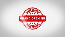 Grand Opening Signed Stamping ...
