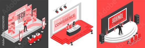 Conference Hall Design Concept Canvas Print