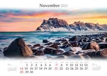 Calendar November 2021, B3 Siz...