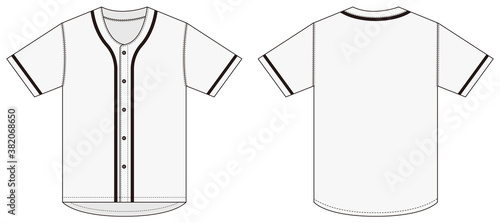 Leinwand Poster Jersey shortsleeve shirt (baseball uniform shirt) template vector illustration