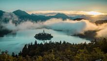 Panoramic Photo Of Lake Bled I...