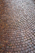 The Texture Of A Brown Cobbles...