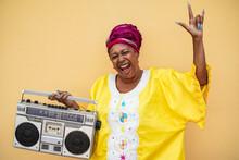 Happy Senior Black Woman With ...