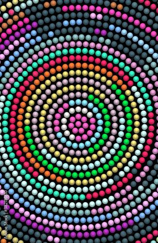 Okleiny na drzwi - Złudzenie optyczne  abstract-background-with-circles