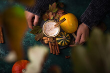 Pumpkin Latte, Hot Autumn Drink