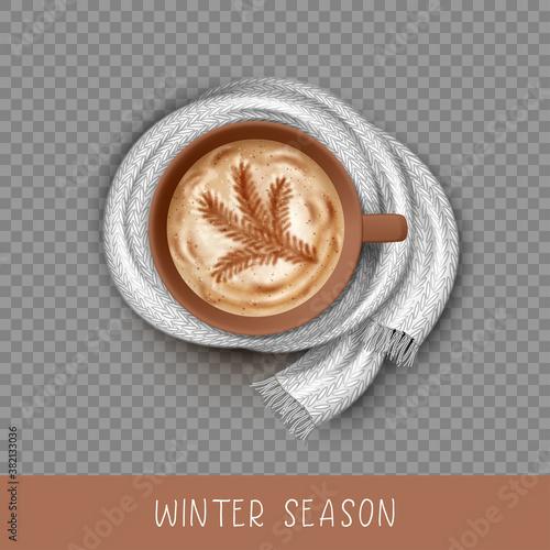 Obraz na plátně Vector Coffee Cup