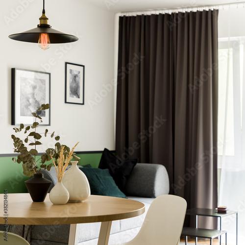 Fototapeta Stylish decorations on dining table obraz