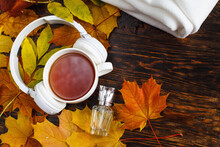 A Cup Of Hot Coffee Or Tea Wit...