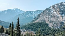 View Of Snowcapped Mountain In...