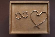 Heart Shaped Golden Earring An...