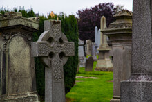 Celtic Cross Headstone Adorned...
